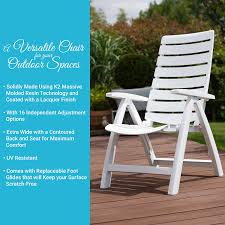 Patio Furniture Foot Caps by Amazon Com Kettler Rimini High Back Chair White Resin Patio