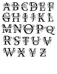 monogram alphabet alphabet svg svg alphabet monogram svg