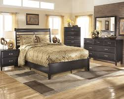 Ashley Bedroom Set With Leather Headboard Ashley Kira Bed Mathis Brothers Furniture