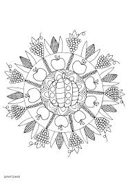 free thanksgiving mandala coloring pages coloring pages ideas