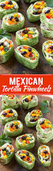 this recipe for mexican tortilla pinwheels is two types of cheese