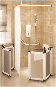 Disabled Half Height Shower Doors Assisted Bathing Disabled Shower And Specialist Needs Bathing