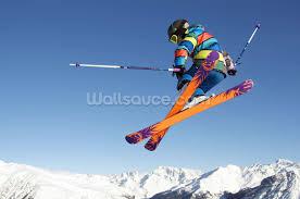 football wall murals sport wallpaper murals wallsauce extreme skiing wallpaper mural