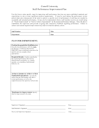 sample employee performance improvement plan template