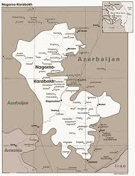 Map Of Spain And Surrounding Countries by Map Of Nagorno Karabakh Another Very Kidney Shaped Version Of