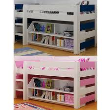 Lollipop Bunk Bed Mid Sleeper White And Navy Blue White And Pink - Mid sleeper bunk bed