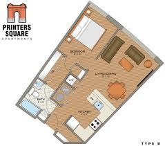 floor plans u2013 printers u0027 square apartments