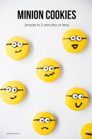 homemade minion cookies easy recipe i heart nap time