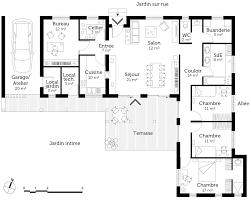 plan de maison plain pied 3 chambres plan de maison plain pied 100m2 idées décoration intérieure