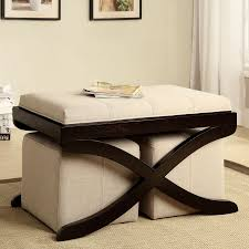 shop furniture of america rue upholstered coffee table at lowes com