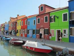 free photo colored burano island venice channel italy houses max