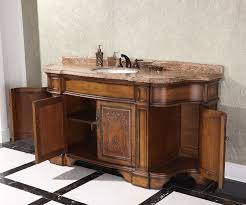 60 Inch Cabinet One Sink Vanity Cabinets Abel 48 Inch Rustic Single Sink Bathroom