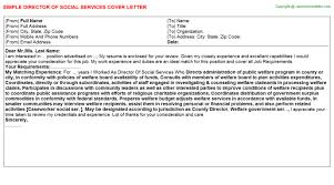 director of social services cover letter