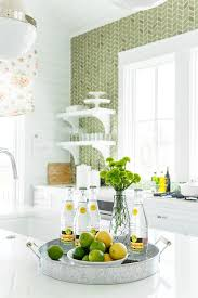 sacks kitchen backsplash white and green kitchen with green herringbone tiles