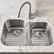 portsmouth right bowl stainless steel kitchen sink grid american