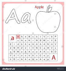 worksheet learning alphabet worksheet preschool children stock