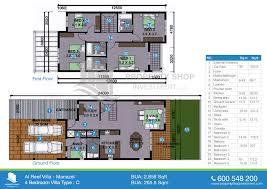 floor plan of arabian style al reef village