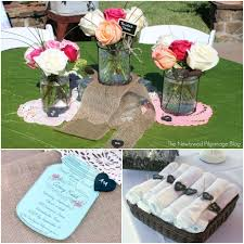 shabby chic bridal shower mason jars chalkboard burlap u0026 doilies