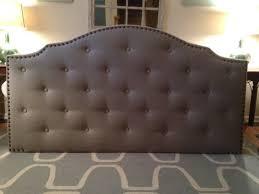 Linen Upholstered King Headboard Tufted King Headboard Naples Wingback Button Tufted Upholstered
