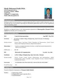 Resume Samples For Freshers Engineers by Sample Resume For Freshers Engineers Electronics Templates