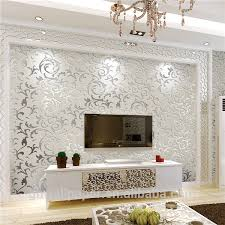 wallpaper designs for home interiors wall paper design home decor 3d wallpapers silver metallic