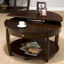 coffee tables mesmerizing round wood coffee table with storage