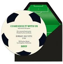 soccer party evite