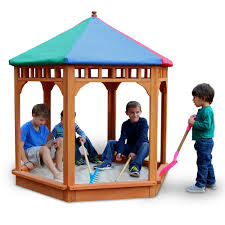 Sandboxes With Canopy And Cover by Frame It All Telescoping Hexagon Sandbox Canopy Cover 300001362