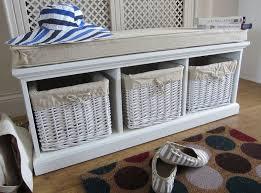 Hallway Storage Bench Incredible Wicker Shoe Storage Bench Hallway Storage Bench For