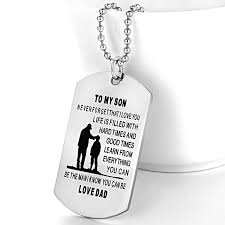amazon com customed photo dog tag necklace personalized father