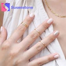 knuckle rings images Hot 4pcs lot shiny punk style gold stacking plain cute above jpg