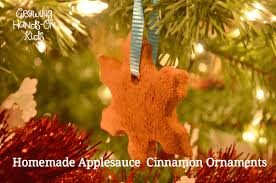 handmade cinnamon ornaments for