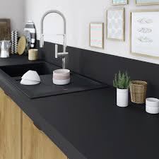 plan de travail cuisine stratifié leroy merlin plan de travail stratifié mat edition noir mat l 315 x p 65 cm ep