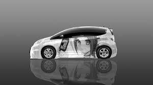 honda white car 4k honda fit jdm anime with psp aerography car 2015 el tony