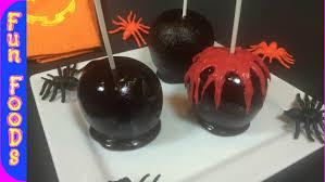 bloody black candy apples halloween treats youtube