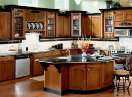 Recently Cherry Inset Cabinet With Low Profile Soffit Crown - Crown moulding ideas for kitchen cabinets