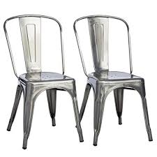 Tabouret Bistro Chair Tabouret Midcentury Bistro Gunmetal Dining Chairs Is Stackable For