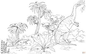 plateosaurus and hesperosuchus coloring page free printable