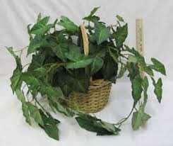 ivy home decor artificial ivy house plant in wicker basket home decor green