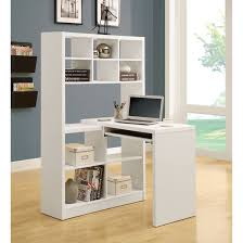 Grey Corner Desk by Furniture White Wooden Corner Desk With Hutch And Shelves Also