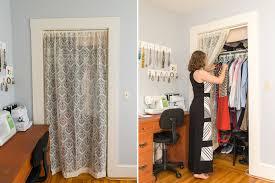 simple option closet door curtains u2014 closet ideas