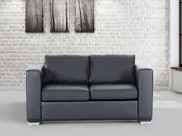 Large Armchair Loveseat Leather 2 Seater Sofa Couch Black Settee Loveseat Caesar