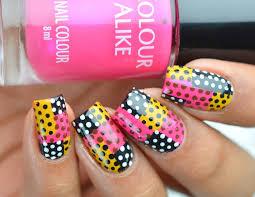 abstract polka dot nail art lifeisnails