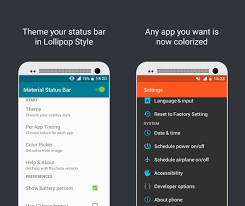 android app to 3 android apps to customize status bar and notification bar
