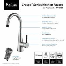 kitchen faucet kraususa com kraus crespo 8482 single handle kitchen bar faucet with quickdock installation