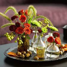 Flowers In Vases Pictures Fresh Cut Flowers In Vases For Thanksgiving Centerpiece Pictures