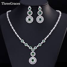 necklace stone setting images Threegraces russian dangling perfect round cz stone pave setting jpg