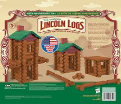 amazon com lincoln logs 100th anniversary tin 111 all wood amazon com lincoln logs 100th anniversary tin 111 all wood pieces ages 3 construction education toy toys games