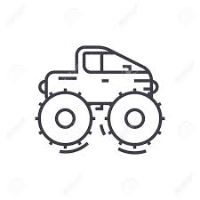 safari jeep drawing cross country vehicle jeep vector line icon sign illustration