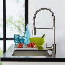 pull kitchen faucets stainless steel the foodie single handle pull pre rinse kitchen faucet